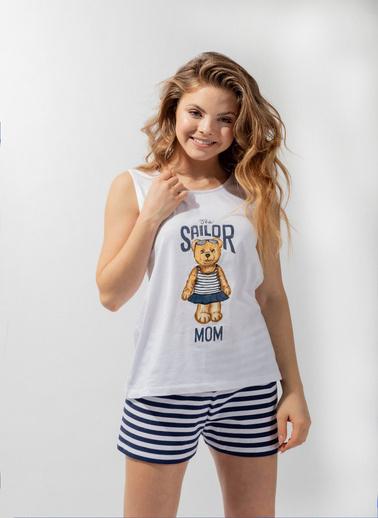 Katia & Bony Teddy Bear Family Team Kadın Şort Takım  Beyaz